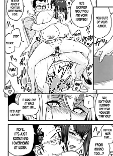 英语漫画 dankon sousai hitozuma kyoushi ga, big breasts , glasses